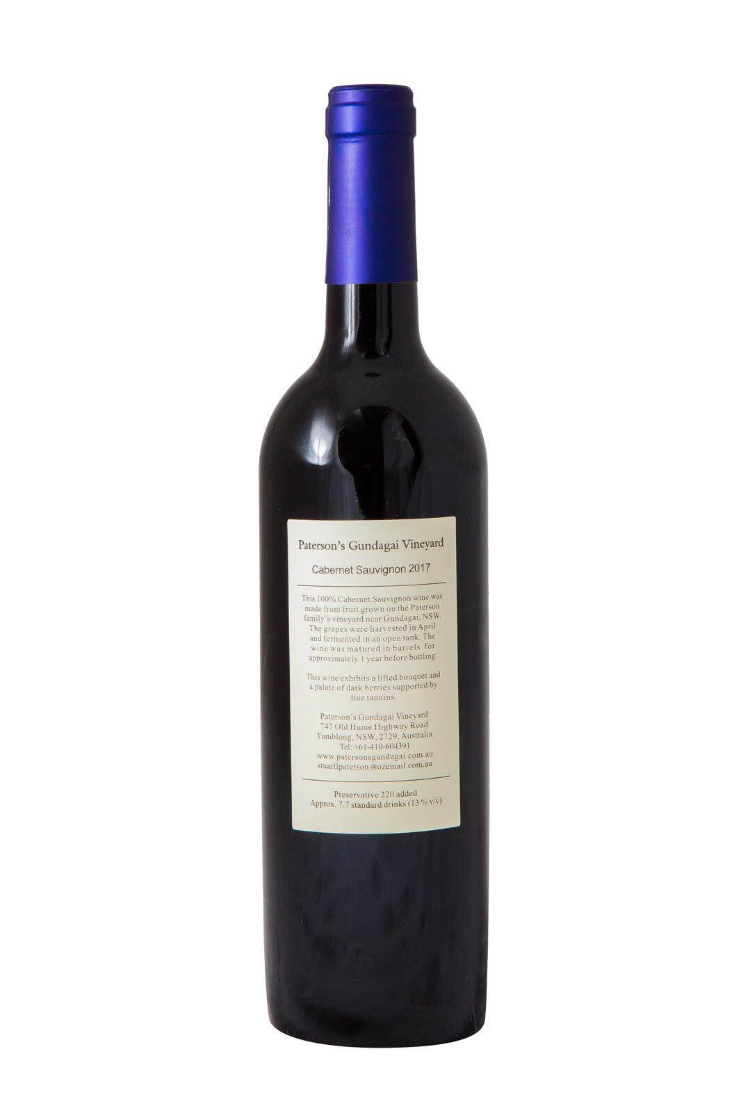 2017 Paterson's Gundagai Vineyard Cabernet Sauvignon